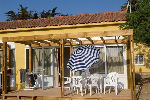 Mobil-home 6 personnes (Catégorie 1) - Village Vacances Les Abricotiers - Argelès-sur-Mer - Extérieur été