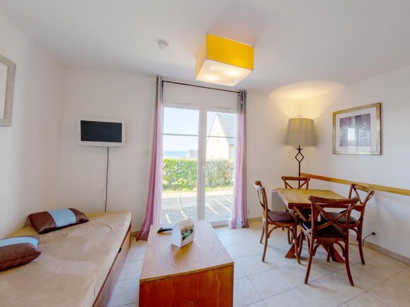 2 room duplex cottage 4 people (seasight) - Résidence les Terrasses de Pentrez Plage - Pentrez Plage - Living room